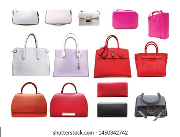 women fashion accessories series - isolated on white background