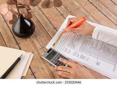 women filing taxes before deadline