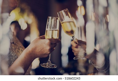 Women Friendship Party Celebration Drinks Cheers Happiness Concept - Shutterstock ID 518602243