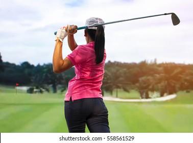 Women golf player