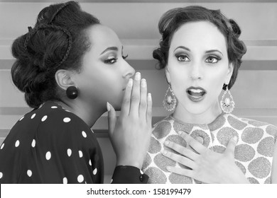 Women gossip and secrets vintage