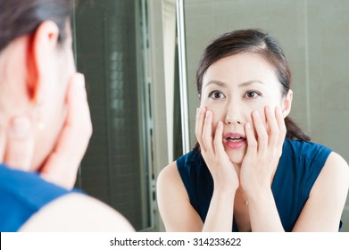 Women have seen their faces in the mirror