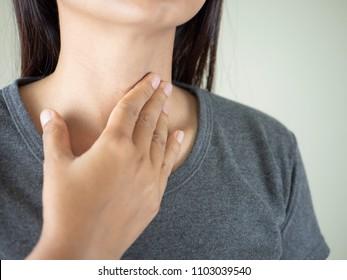 Women have sore throat.