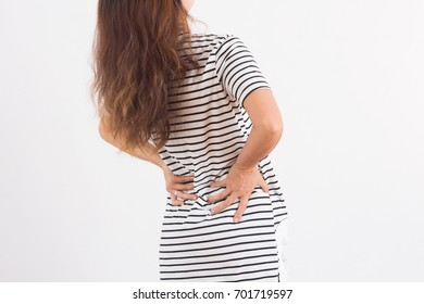Women have waist pain.