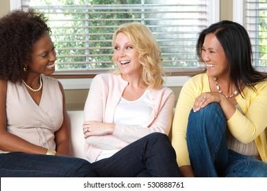 Women having coffee.