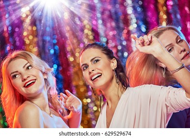 Women having funny party