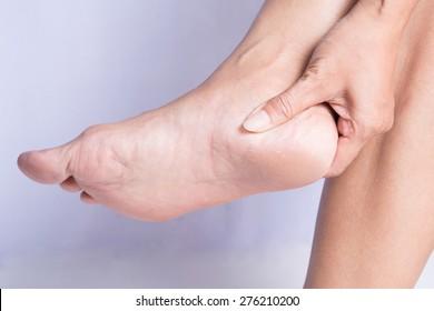 Women heel cracks.