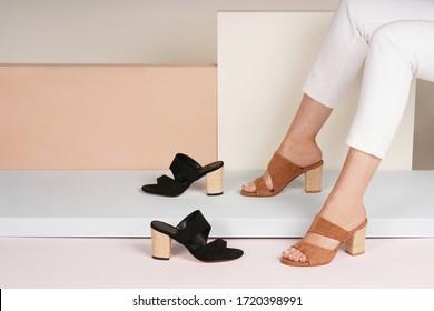 women high heel in isolated background in the studio