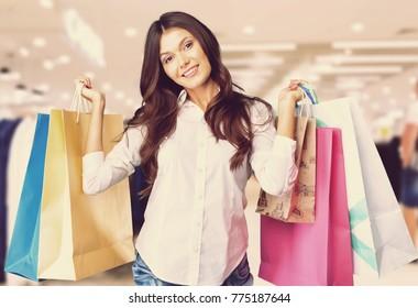 Women holding shopping bag