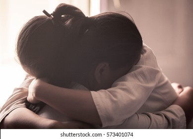 Women hugging,Concept of best friends,Select Focus.