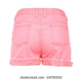 women jeans shorts. Back.