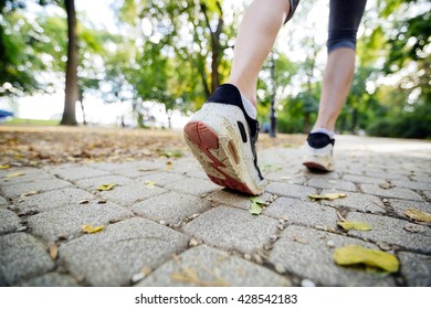 Women jogging in park and living a healthy sporty life