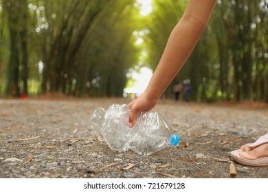 Women keep plastic recycling