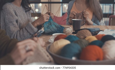 Women in the knitting studio