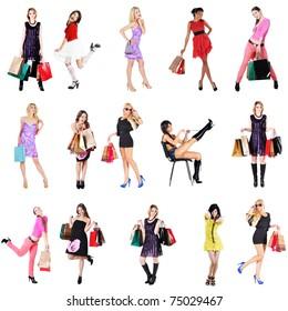 women on shopping