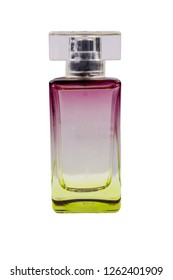 Women perfume isolated on white background