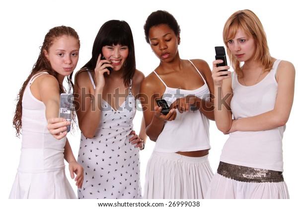 women & phones