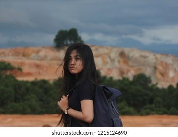 """A women in """"Rumah Jomblo"""" Cempaka Kota Banjarbaru (Kal-Sel) Indonesia"""