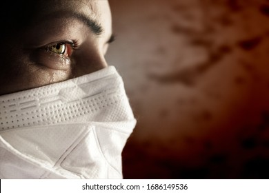 Women with safety mask from coronavirus. Covid-19 outbreak around the world.