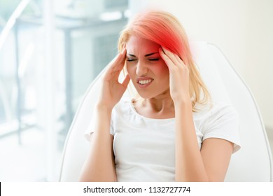 Women with severe migraine headaches may come from problem with the blood vessels.bleeding in the brain. Including abnormal blood vessels. Brain Injury Or meningitis. Should see a doctor immediately.