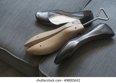 women shoes with shoe stretcher