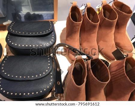 36211665c3524b Women Shoes Store Women Leather Shoes Stock Photo (Edit Now ...