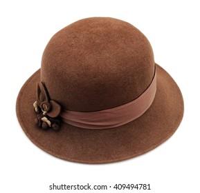 Women stylish retro felt hat