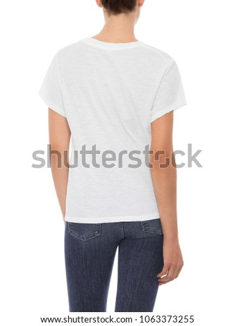 Women T Shirt Womens Cheap Plain Stock Photo (Edit Now) 1063373255 ... b43feba0f1