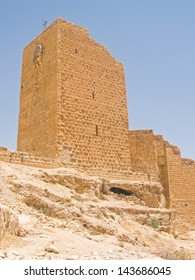 Women Tower (the only building that women can enter) of Greek Orthodox monastery Great Lavra of St. Sabbas the Sanctified (Mar Saba) in Judean desert. Palestine, Israel.