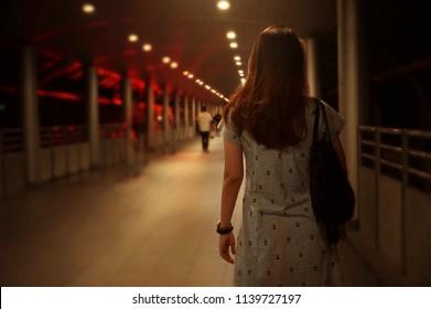 Women walking alone