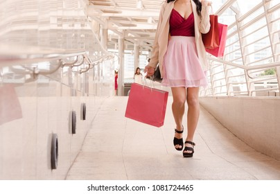 women walking to shopping, sale, consumerism and people concept.
