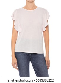 Women white T'Shirt Women Cheap Plain O Neck T'Shirts In Different Color, Women's White Round Neck T-Shirt Half Sleeve with white background