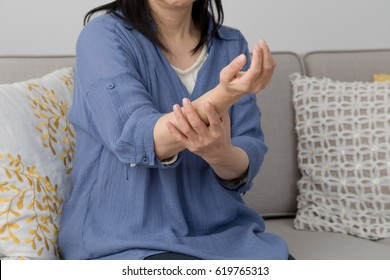 Women who care about their arms, numbness, pain, paralysis