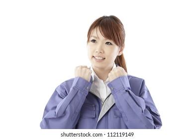 Women and work clothes
