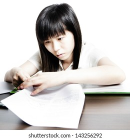 women work with paper documents
