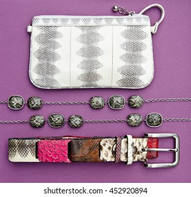 women's accessories, top view