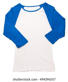 Women's baseball jersey on white