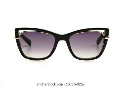 Women's black Sunglasses isolated on white background