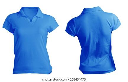 0f3b1a2632ad Women s Blank Blue Polo Shirt