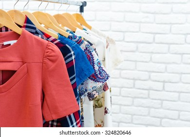 Women's clothes on hanger