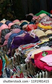 Women's clothing for sale in central market of  Kratie, Cambodia