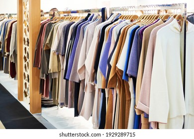 Women's clothing in the store