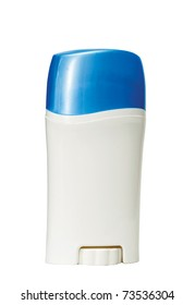 Women's deodorant on a white background, close-up.