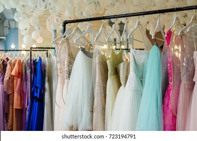 women's dresses on hangers