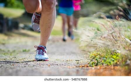 Women's evening trail run