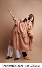 Women's fashion cloakswomen's fashionable overalls overcoat