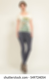 Womens fashion clothing theme creative abstract blur background with bokeh effect.