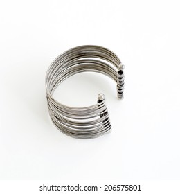 Women's fashion jewelry made of silver on hand