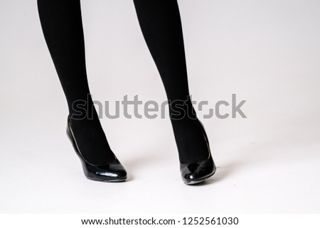 cdcaf97d466 Womens Feet Black Stockings Tights Black Stock Photo (Edit Now ...