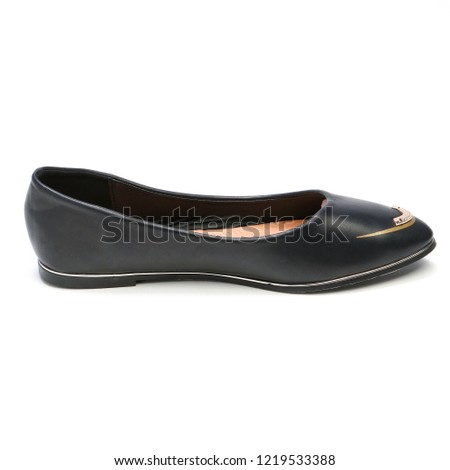 21dc4904c Womens Flats Shoes Leather Isolated On Stock Photo (Edit Now ...